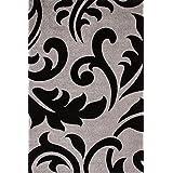 """Sona-Lux diseño de Alfombras tejidas a mano moderno plata """"Seleccionar el tamaño"""" 200 x 290 cm"""