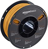 AmazonBasics - PLA 3D-Drucker Filament, 1,75 mm, Gold, 1 kg Spule