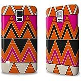 Designer Hülle / Case / Cover für das Samsung Galaxy S5 mini - ''Orange Triangles'' von caseable