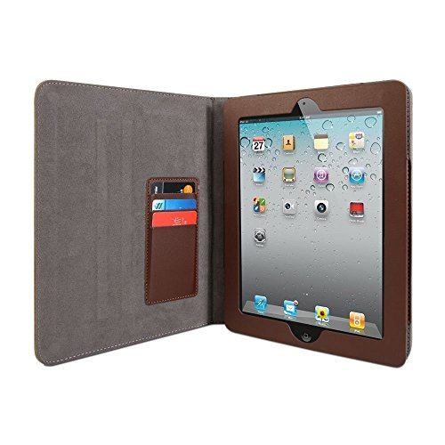 Gmyle Book Case Vintage 360 for iPad 3 - Root Beer Brown