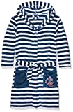 Playshoes Jungen Bademantel Fleece Morgenmantel Maritim