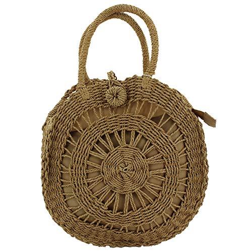 MISEMIYA - Borsa a Mano Donna Pochette e Clutch Borse a mano e a spalla mano borsa - Caqui