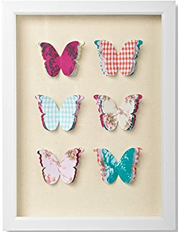 SALE Graham & Brown Butterflies Corsage Framed Wall Art Was £20 Now £12.50