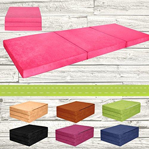 Materasso-pieghevole-per-ospiti-letto-per-letto-Ospite-futon-Pouf-195-x-80-x-9-cm-colore-rosa