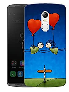 "Humor Gang Cartoon Couple In Air Printed Designer Mobile Back Cover For ""Lenovo Vibe X3"" (3D, Matte Finish, Premium Quality, Protective Snap On Slim Hard Phone Case, Multi Color)"