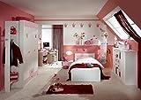 Dreams4Home Kinderzimmer 'Princess XL', Jugendzimmer, Mädchenzimmer, komplett, rosa, Jugendbett, Bettkasten:ohne Bettkasten