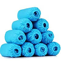 LXLTL 200 Pack Disposable Shoe Covers, for Medical, Construction, Workplace, Indoor Carpet Floor Protection One Size Fits Most,blue