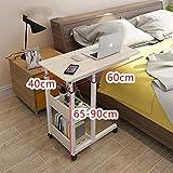 Computer Desk Hub- und beweglicher Tisch, Nachttisch, Laptop-Heimtisch, Schlafzimmertisch, Schreibtisch,Color:A;Size:60cm