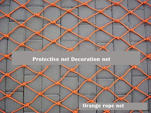 Wlh Outdoor Kinder Pet Schutznetz Sicherheitsnetz Seilnetz, Balkon Treppen Absturzsicherung Net Dekoration Net Nylon Mesh Zaunnetz (größe: 8mm Seil 6 cm Loch) (Farbe: Orange) (Size : 2 * 4m)