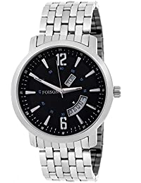 Foison FS12 Exculsive Day And Date Display Analogue Stainless Steel Men's Wrist Watch