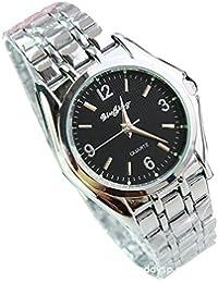ufengke® mode edelstahl armbanduhren für männer geschenk handgelenk armbanduhren-schwarzes zifferblatt
