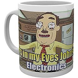 GB eye–Taza, diseño de Rick y Morty hormigas en mis ojos Johnson, multicolor