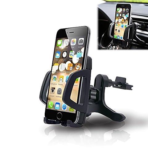 Phone Mount, Orinsong Mount Cradle Car Phone Holder Air Vent Car Mount /Phone Mount ,Phone Holder For Car niversal Car Mount Holder Cradle for iPhone 7 6 6S, Samsung, Google, HTC, HUEWEI, Motorola, Nokia, LG and other
