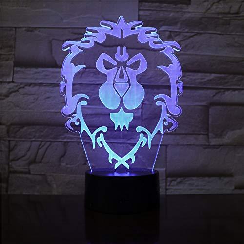 World of Warcraft LED-Lampe mit Farbwechsel, USB, Nachtlicht