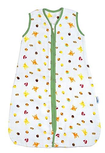 Preisvergleich Produktbild Schlummersack Baby Musselin Sommerschlafsack 0.5 Tog - Waldtiere - 0-6 Monate/70 cm