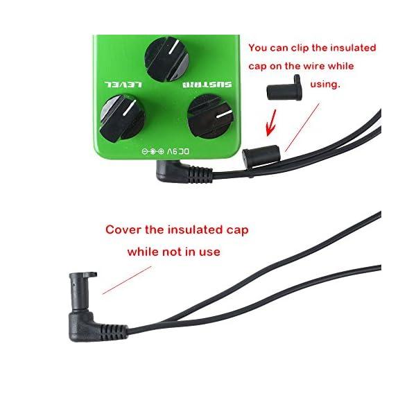 Mr di TM Pedale effetto chitarra Alimentatore 9 V DC 1000 mA con 6 modi Daisy Chain (spina EU)