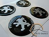 PEUGEOT Set di 4 badge autoadesivo 60mm di plastica ad Applicare per coperture del mozzo