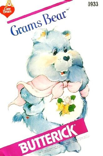 butterick-6933-care-bears-carebears-grams-bear-sewing-pattern-stuffed-toy-teddy-bear-by-care-bears