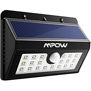 Mpow Solar Lights Motion Sensor Security Lights 3-in-1 Waterproof ...