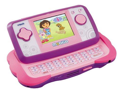 Preisvergleich Produktbild VTECH 80-115854 - MobiGo Lernkonsole TFT-Touch Display pink inklusiv Lernspiel Dora
