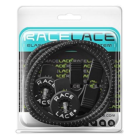 No Label Race Lace - Elastische Sport Schnürsenkel Mit Schnellverschluss + Schnellschnürsystem   Komfort, Halt + Zeit Sparen mit Profischnürsenkel für Sportschuhe   Ideal Für Kinder & Erwachsene