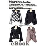 Martha Nähanleitung mit Schnittmuster auf CD für Jacke, Kapuzenjacke bzw. Hoodie-Jacke, Weste in 5 Größen Gr. 34/36 bis 50/52