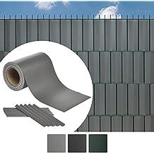 Sol Royal Recinzione per pannello in profilato tubolare doppio SolVision ST6 - 35m x 19cm strisce con clip grigio chiaro