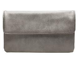 cecilia&bens Damen Clutch in verschiedenen Farben | kleine Handtasche | Abendtasche, Farbe:grau