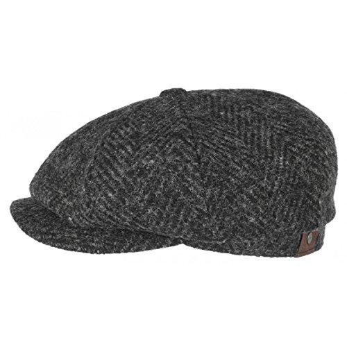 hatteras-herringbone-coppola-stetson-berretti-piatti-cappello-hatteras-58-cm-nero