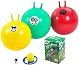 "Garden Games Hoppin Mad Space Hopper Racing Game, Trio Pack,  24"" adult sized hoppers"