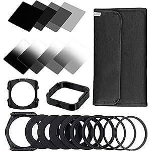 Zomei - Set di Filtri quadrati, a densità neutra ND, per Fotocamera/Videocamera, per la Serie Cokin P Series Pro SLR DSLR