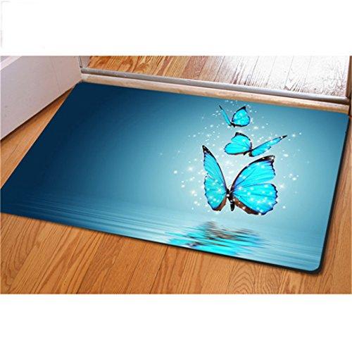 3D-Schönheit Butterfly Pattern Home Wohnzimmer Schlafzimmer Küche weichen Teppich (Home-teppich Shampooer)