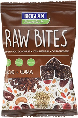 BIOGLAN Superfoods Raw Bites Cacao/Quinoa 12 x 40 g