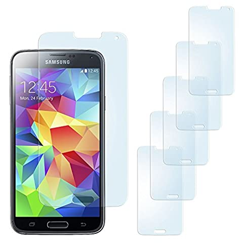 5x Samsung Galaxy S5 Mini Schutzfolie Matt Display Schutz [Anti-Reflex]