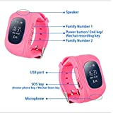 mobicell Q50 Watch Updated 2018 Tracker Smart Wrist Watch With Gps & Gsm System With Functions Of Kids Safety Alarms Anti-Lost For Birthday Gift Compatible with iPhone, Samsung, Sony, Oppo, Htc, Vivo, Xiaomi, Lenovo And All Android Devices IOS and Windows