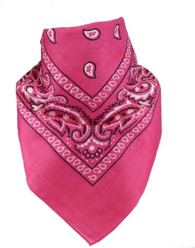 Harrys-Collection Bandana Bindetuch 100% Baumwolle 1 er 6 er oder 12 er Pack!, Farbe:pink