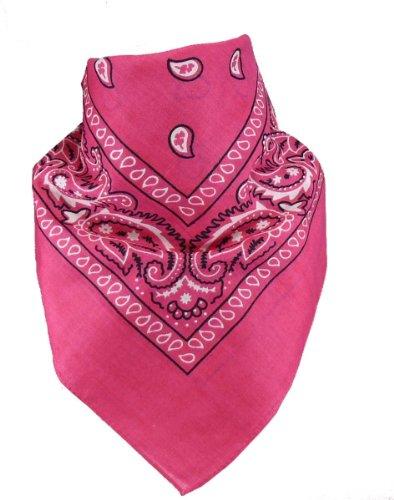 Harrys-Collection Bandana Bindetuch 100% Baumwolle (1 er 6 er oder 12 er Pack), Farbe:pink -