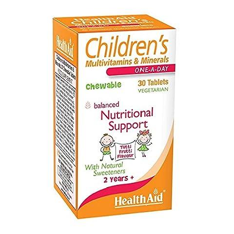 HealthAid Children's MultiVitamin + Minerals - 30 Tablets