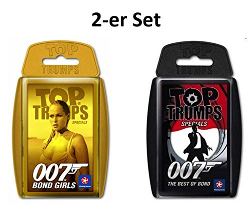 Unbekannt 2-er Set Deutsche Version Ausgabe - Winning Moves - Top Trumps 007 Bond Girls und 007 Best of Bond das Kartenspiel - Quartett