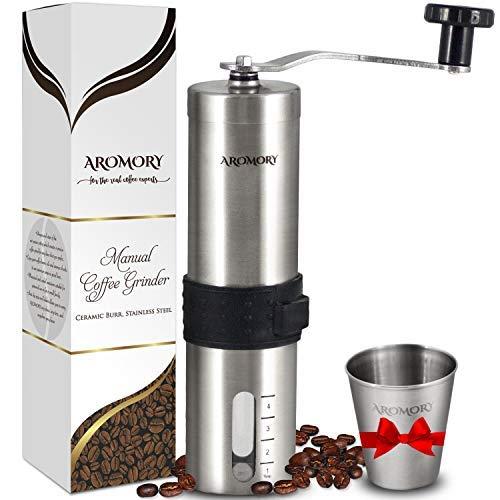 Manuelle Coffee Bean Grinder, konische Keramik-Frässtifte Mühle für Espresso, French Press, Kaffeemaschine, mehr