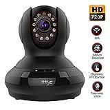 3-Eye Sparkle 1 H.264 Wireless / Wires Pan Surveillance Netzwerk IP Kamera ip cam(HD 1280x720p, Iphone Android Mobile Ansicht, Zwei-Wege-Audio Talk, Schwarz).
