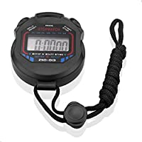 SIENOC Digital Professional Handheld LCD Chronograph Sports Stopwatch Timer Stop Watch