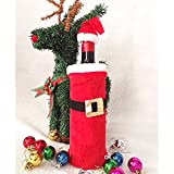 Eizur 1 Pc Christmas Red Wine Bottle Cover Bag Gift Wrap Table Dinner Decoration Home Party Decor Santa Claus Clothing Hat