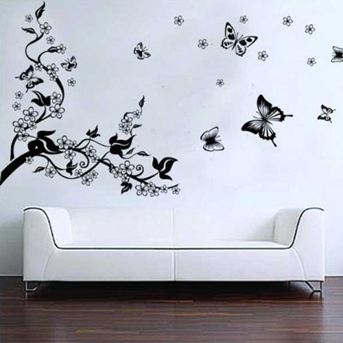 romantica-pegatina-calcomania-para-decorar-la-pared-arbol-y-mariposas
