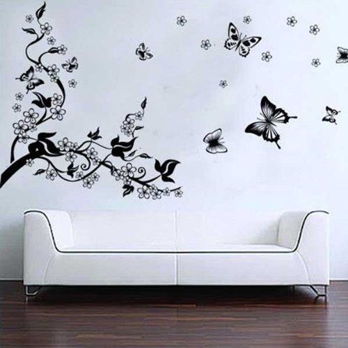 Newsbenessere.com 514UlHxDKoL BestOfferBuy Romantici Stickers da Muro in 3D con Decalcomania di un Albero con Farfalle
