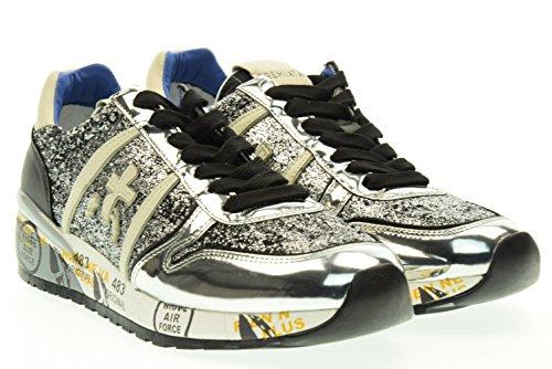 PREMIATA donna sneakers basse DIANE 1095 38 Argento