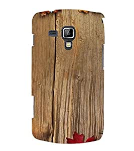 PrintVisa Criss Cross Wooden Pattern 3D Hard Polycarbonate Designer Back Case Cover for Samsung Galaxy S Duos S7582