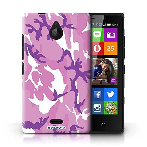 Kobalt® Imprimé Etui / Coque pour Nokia X2 Dual Sim / Bleue 2 conception / Série Armée/Camouflage Rose 4
