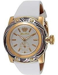 Glam Rock Women's Miami 45mm White Leather Band Swiss Quartz Watch GR10507