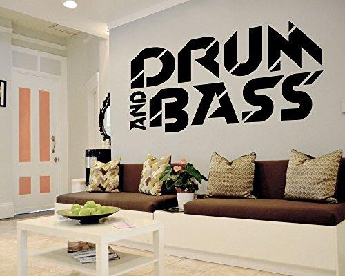 (Wandtattoo Drum and Bass in verschiedenen Größen und Farben (110 x 59 cm, schwarz))